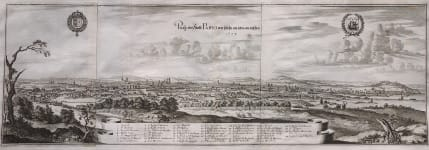 MERIAN'S LARGE PANORAMA OF PARIS