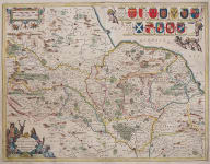 JANSSON'S DECORATIVE MAP OF NORTH RIDINGS YORKSHIRE