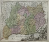 HOMANN'S MAP OF CATALONIA  BARCELONA