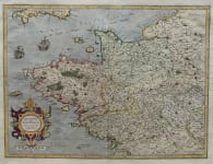 MERCATOR'S MAP OF BRITTANY & NORMANDY