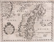 SANSON'S RARE MAP OF MADAGASCAR