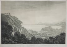 RARE AQUATINT OF NICE BY HONOURABLE MARY HARCOURT