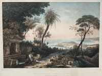 RARE LARGE  ORIGINAL HAND COLOURED LITHOGRAPH OF NICE  BY CHAMPIN