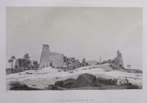 LUXOR LARGE ENGRAVING  FROM NAPOLEON'S EXPEDITION   THEBES KARNAK