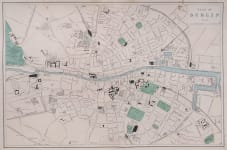 DUBLIN LITHOGRAPHIC MAP 1880