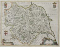 BLAEU MAP OF YORKSHIRE