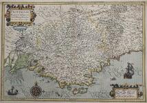 MERCATOR MAP OF PROVENCE PROVINCIA FRANCE