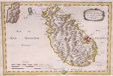 SANSON MAP OF MALTA