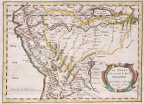 SANSON MAP OF THE AMAZON AND PERU