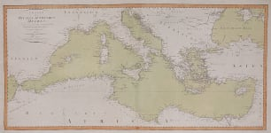 RARE WEIMAR CHART OF THE MEDITERRANEAN SEA  SUPERB
