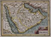 BERTIUS MAP OF ARABIA