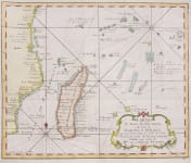 MADAGASCAR  SURROUNDING ISLANDS  BELLIN 1740