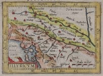 ORTELIUS MAP OF COATIA  BOSNIA..