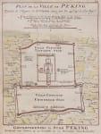 BELLIN MAP OF PEKING  BEIJING SCARCE DUTCH ISSUE
