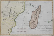 BONNE MAP OF MADAGASCAR