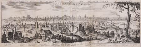 MERIAN  SUPERB PANORAMA OF CONSTANTINOPLE  ISTANBUL