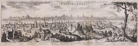 MERIAN  SUPERB PANORAMA OF CONSTANTINOPLE  ISTANBUL