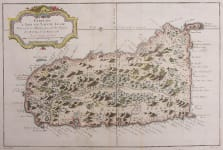 BELLIN MAP OF ST LUCIA