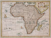SCARCE CLOPPENBERG MAP OF AFRICA