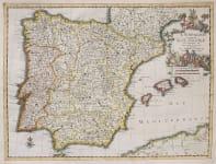 SPAIN  SCARCE MAP BY  VAN DER AA