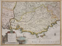 PROVENCE RIVIERA  SCARCE MAP BY VAN DER Aa
