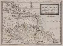 MOLL MAP OF THE CARIBBEAN AND COLUMBIA , VENEZUELA