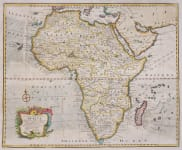 EMAN BOWEN'S FOLIO MAP OF AFRICA    RARE ENGLISH MAP