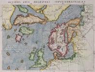 MAGINI'S MAP OF THE NORTH ATLANTIC 1597 FICTICIOUS ISLANDS