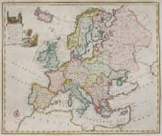BOWEN   RARE FOLIO MAP OF EUROPE