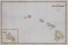 D'URVILLE   MAP OF HAWAII    MAUI