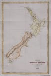 D'URVILLE MAP OF NEW ZEALAND 1835