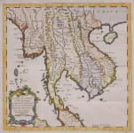 BELLIN MAP  INDO CHINA , THAILAND BURMA