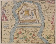MUNSTER MAP   FORTRESS OF JULA  TOKAY HUNGARY