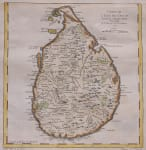 BELLIN MAP OF SRI LANKA     CEYLON