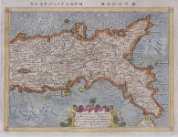 MAGINI MAP OF SOUTHERN ITALY