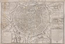 MILAN BELLEFOREST VERY  RARE 1575 PLAN