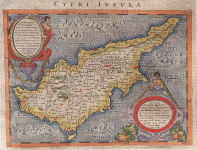 MAGINI  STUNNING MAP OF CYPRUS   AFTER ORTELIUS