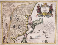 MERIAN  MAP OF CHINA  1640