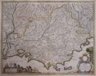 PROVENCE  JANSSONIUS MAP BY MR SAMSON