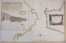 SUPERB DECORATIVE WALL MAP OF THE STRAIGHTS OF GIBRALTER