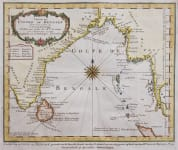 BELLIN CHART OF THE SEA OF BENGAL    COROMANDAL COAST BURMA