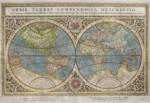 SUPERB MERCATOR S WORLD MAP OF 1569 REDUCED BY PORRO MAGINI