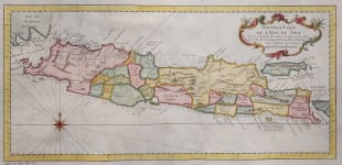 BELLIN DECORATIVE  MAP  OF JAVA
