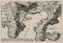 VILLEFRANCHE AND  CAP FERRAT     DE FER  1691  RIVIERA