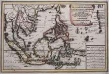 DE FER RARE MAP OF PHILIPPINES  BORNEO JAVA