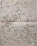 RARE SEA CHART OF EUROPE & SCANDINAVIA BY SCHRAEMBL