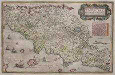 TUSCANY  ORTELIUS STUNNING MAP OF TUSCANY