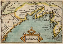 BERTIUS MAP OF THE BAY OF BENGAM