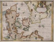 DENMARK   RARE DAHLBERG MAP