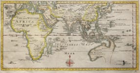 RARE AUSTRALIA   MAP FROM AFRICA TO NEW ZEALAND 1760